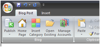 sharepoint-blog-word-blog-post-menu